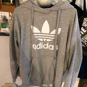 Oversized Adidas hoodie